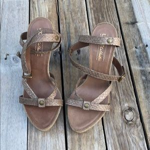 Ugg Collection | Strappy Snakeskin Heels size 8